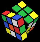 a mixed up Rubik's cube